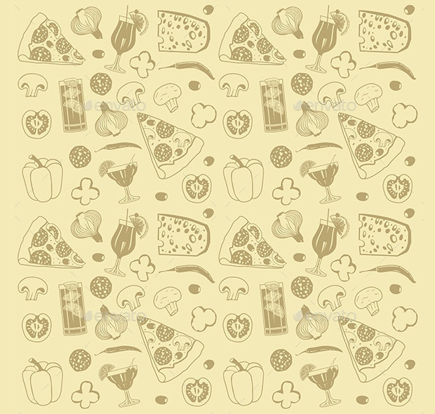 Vector EPS Format Pizza Pattern