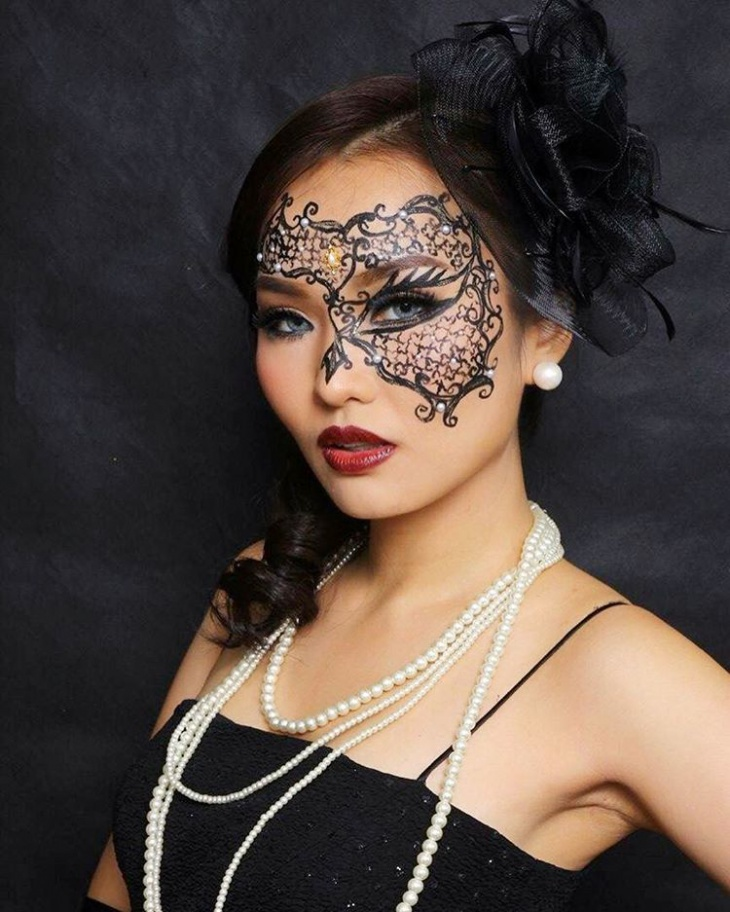 masquerade ball makeup and hair