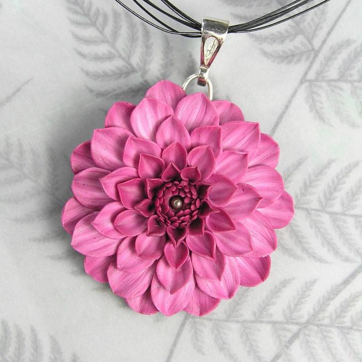 Handmade Floral Pendant Chain