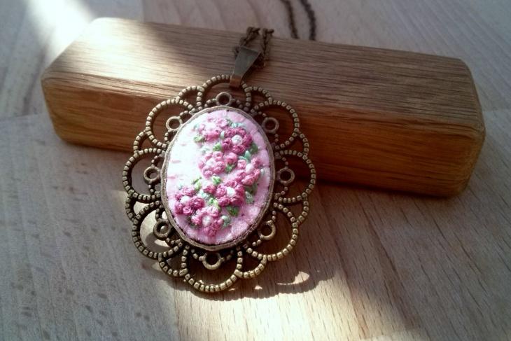 Pink Floral Necklace