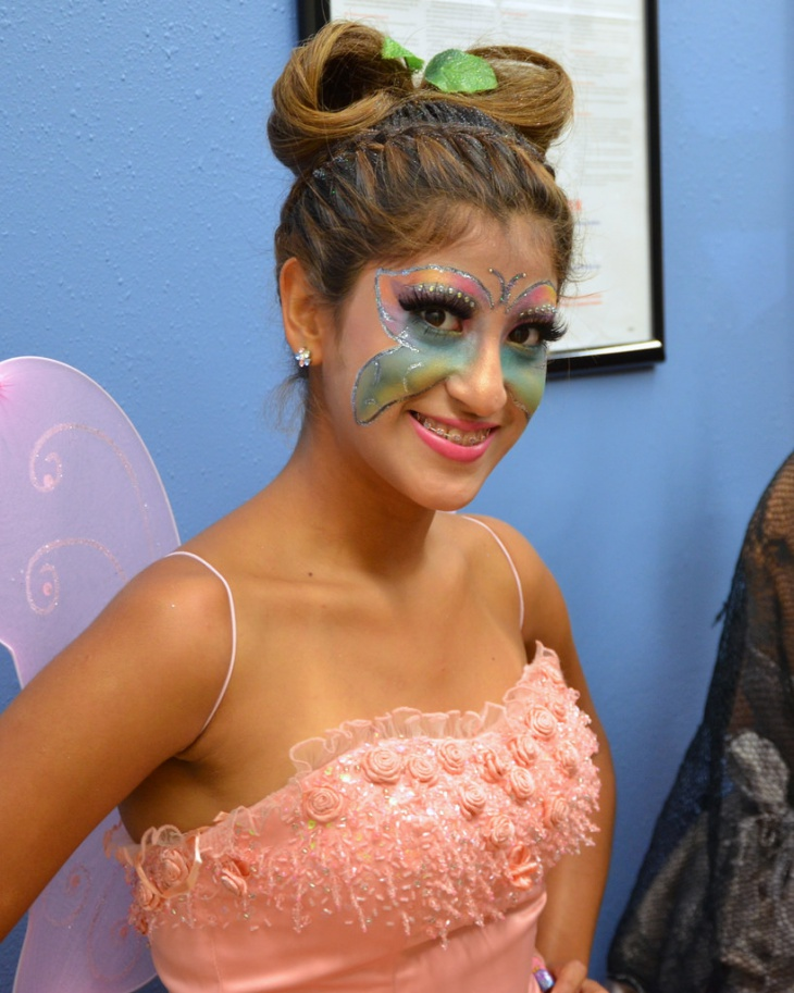 Colorful Butterfly Makeup Design