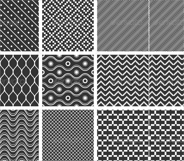 Monochrome Geometric Seamless Texture