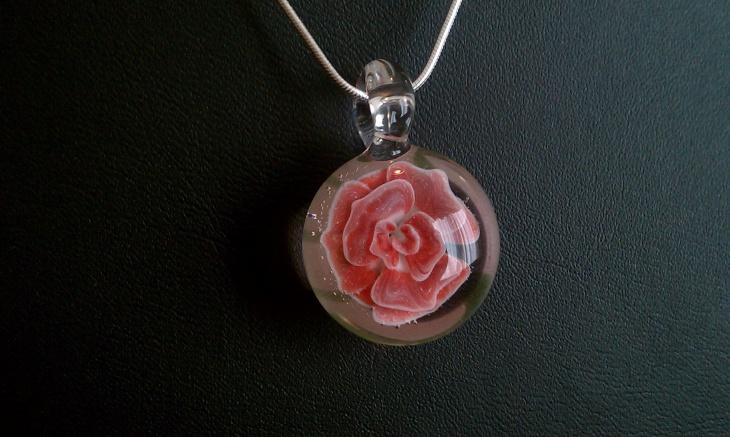 Rose Flower Pendant Idea