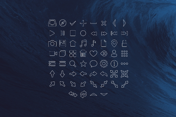 Dark Stroke PNG Icons