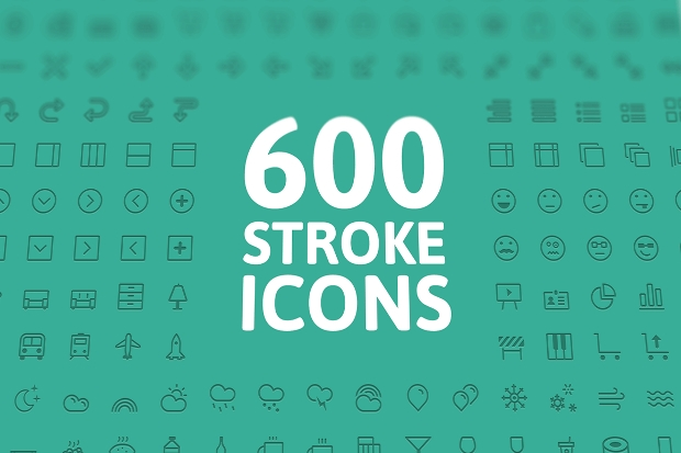 Simple Stroke Vector Icons