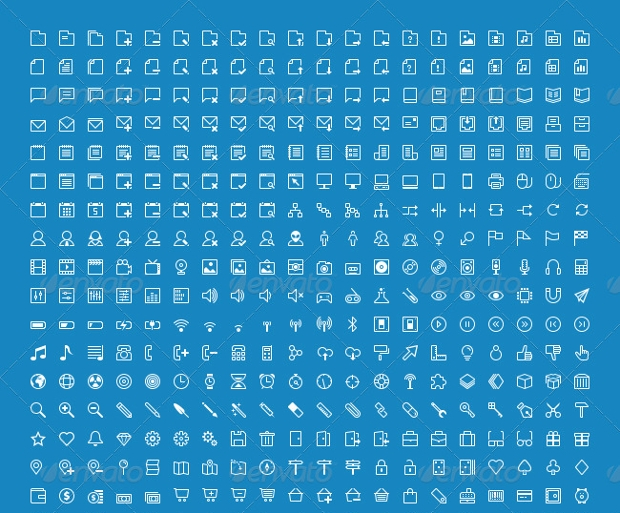 High Resolution Stroke Vector Icons