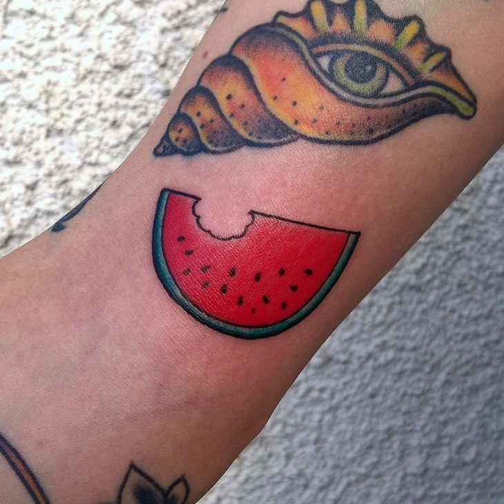 Watermelon Slice Tattoo Design