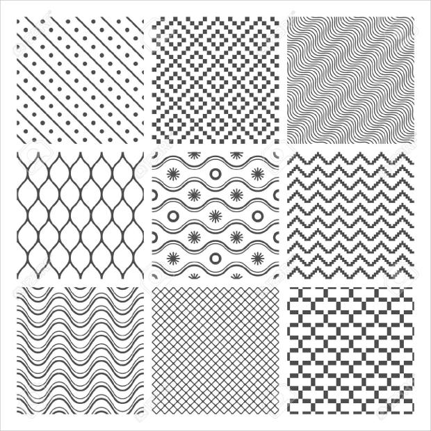 white geometric monochrome textures