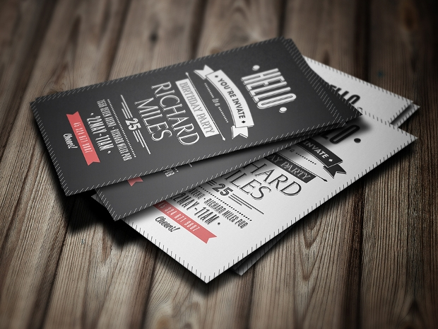 Retro Business Invitation Card