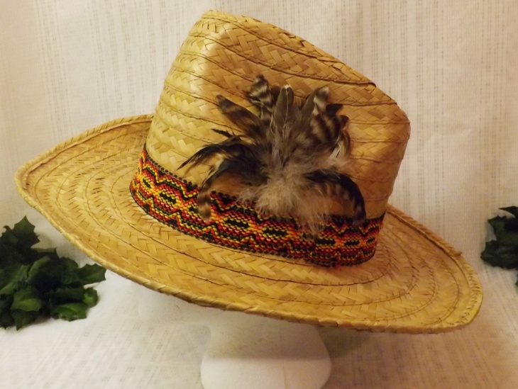 Feather Cowboy Hat