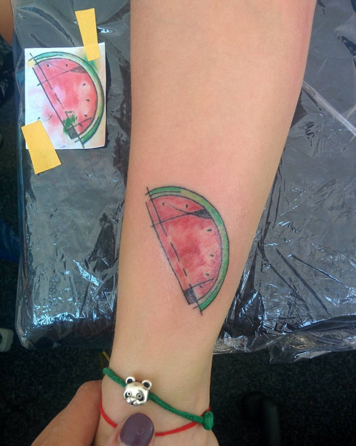 Watermelon Tattoo on Hand