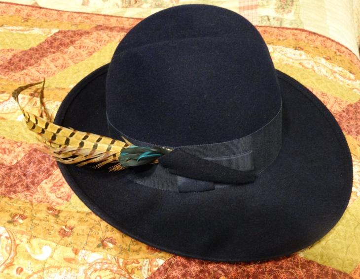 Vintage Pheasant Feather Hat