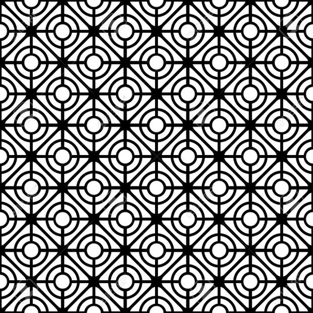 Seamless Geometric Lattice Texture