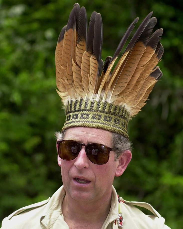 large feather hat for men