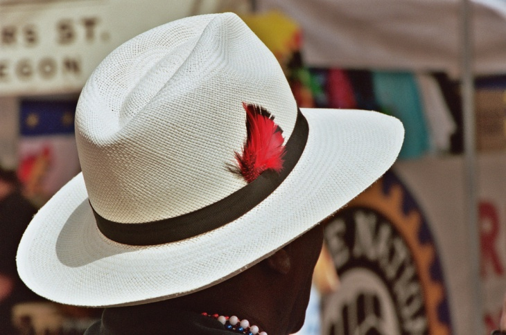 red feather hat idea