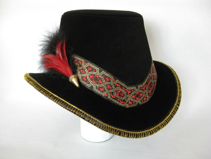 beautiful feather hat