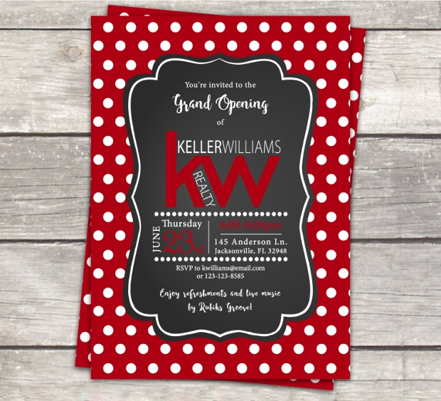 Chalkboard Event Business invitation