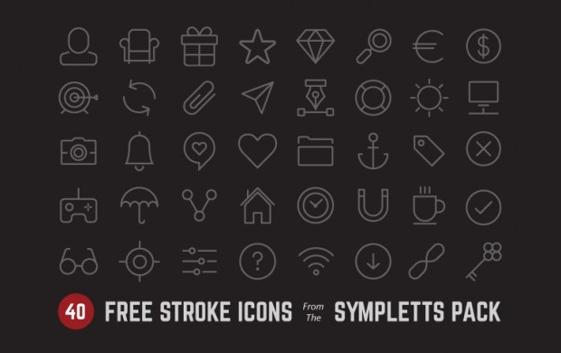 Free Psd Stroke Icon Set