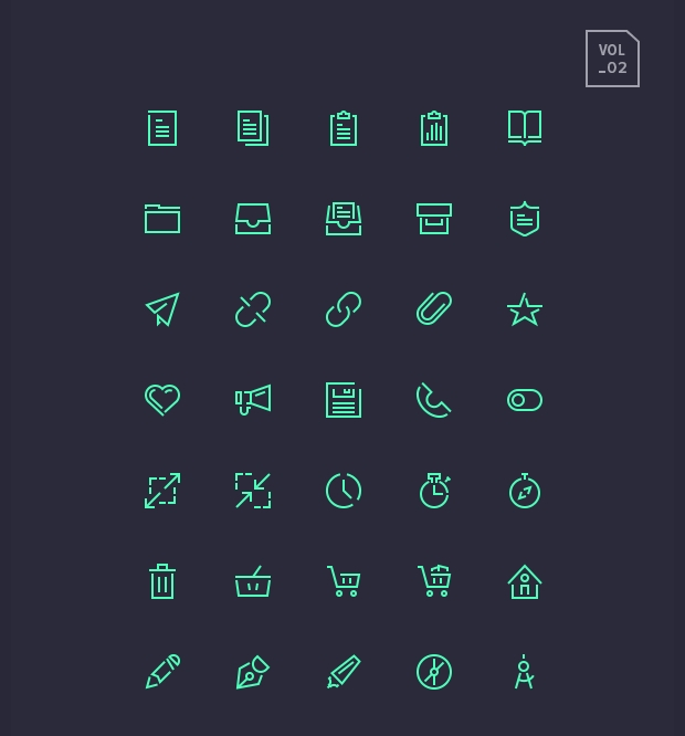 Stroke Gap Icon Set