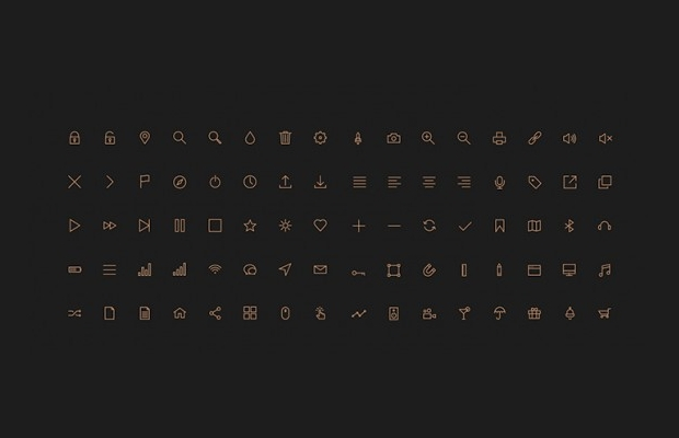 Stroke Web Icons Pack