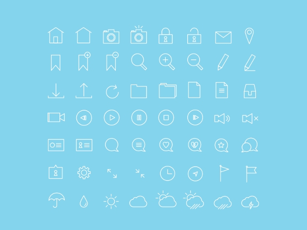 Free Thin Stroke Icons