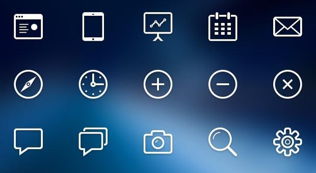 free stroke line web icons