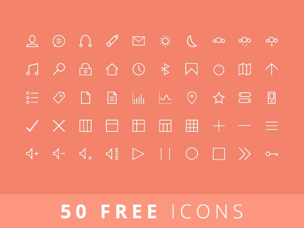 free vector stroke line icons set