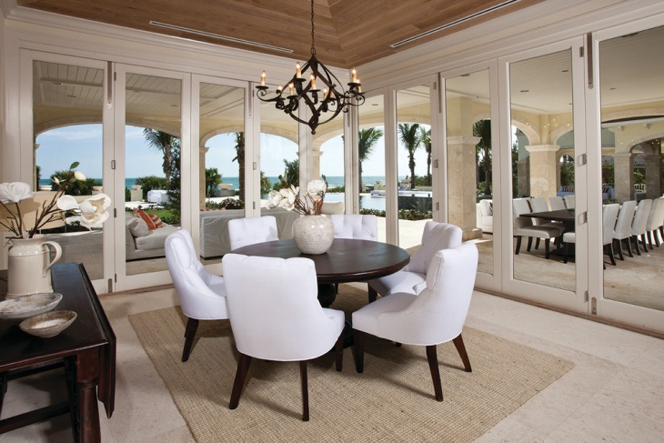 outer view round dining room