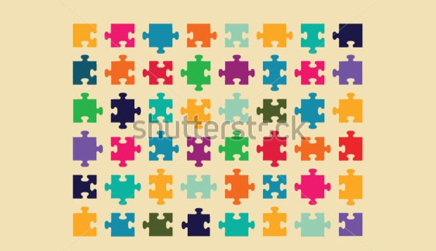 Colorful Puzzle Vector Design