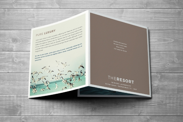 Resort Trifold Square Brochure