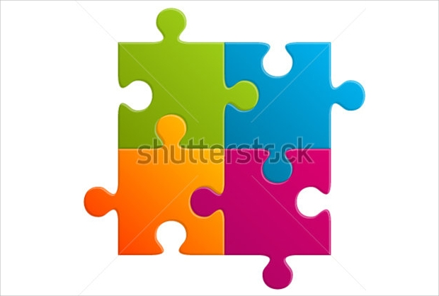 Abstract Puzzle Vector Art