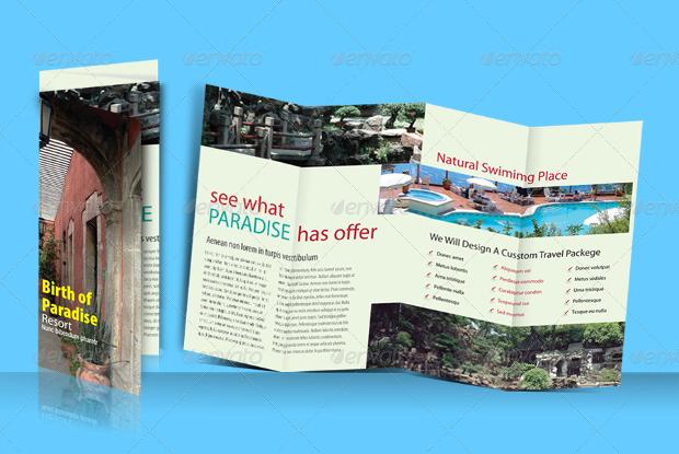 Hotel and Resort Double Parallel Brochure