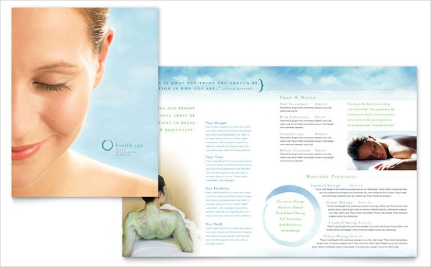 18 resort brochures free psd ai indesign vector eps for Spa brochure templates