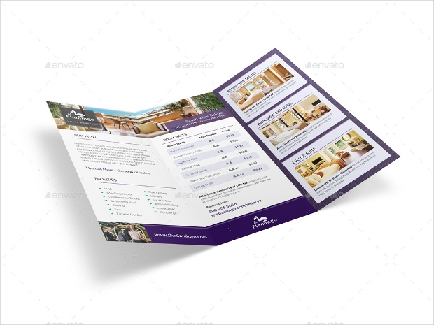 Beach Resort Trifold Brochure