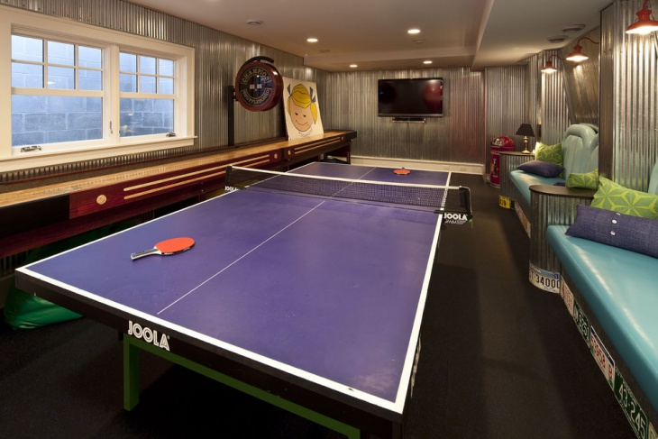 Basement Kids Game Room Idea