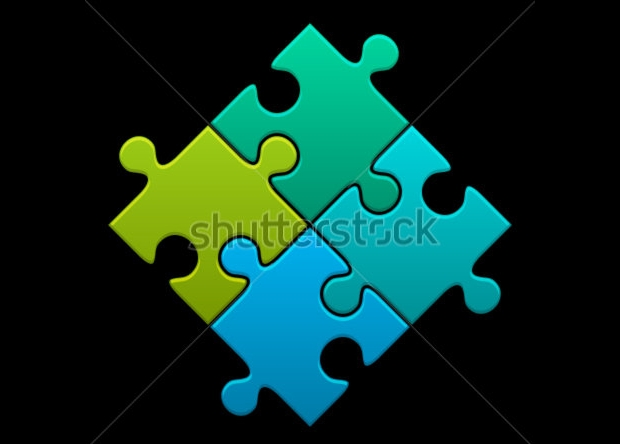 High Quality Puzzle Vector Illustration