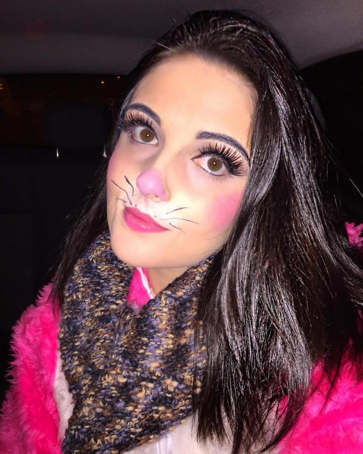 Haloween Bunny Makeup