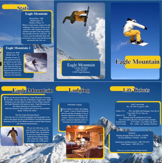 Snowboard Resort Brochure