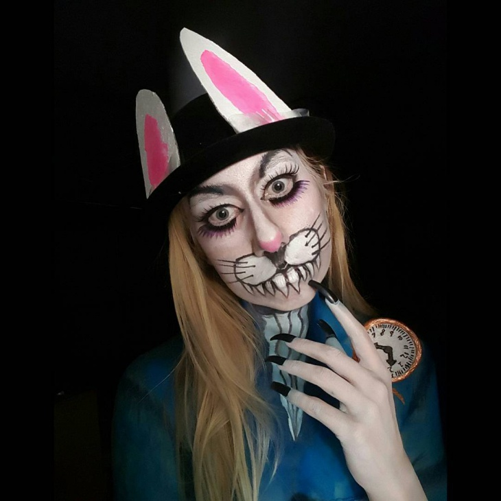 Evil Bunny Makeup Idea
