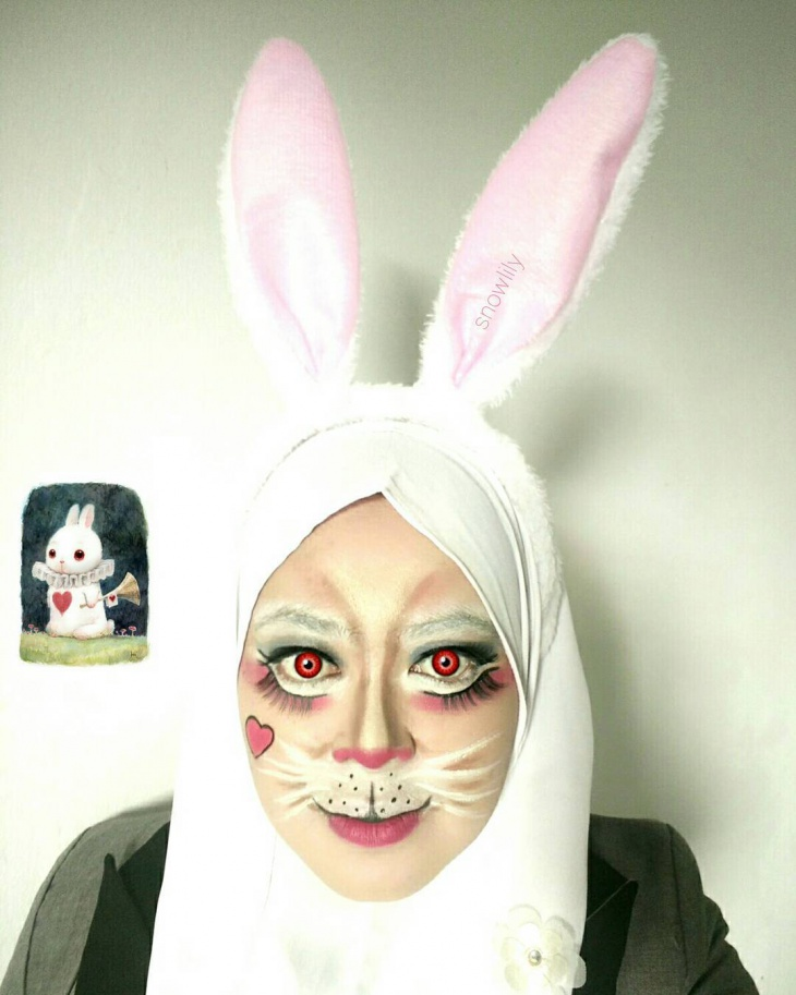 Simple Bunny Makeup