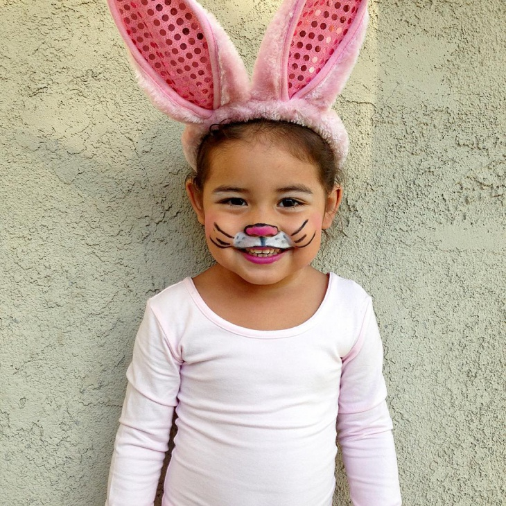 Pink Bunny Makeup for Kids