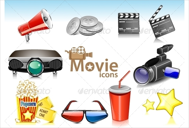 Vector Movie Icons Pack