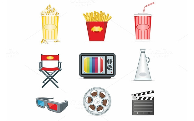 High Quality Movie Icon Set