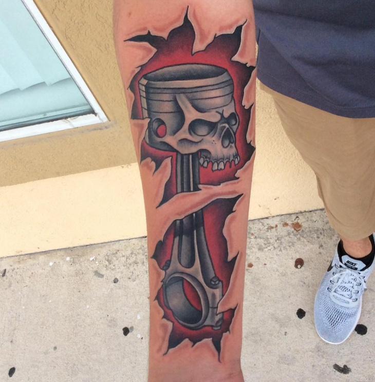 Skull Mechanic Tattoo