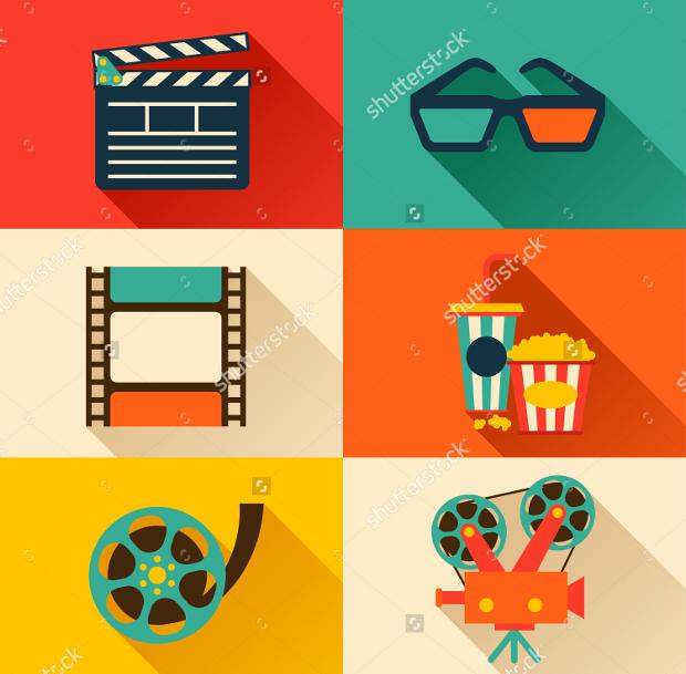 flat style movie icons