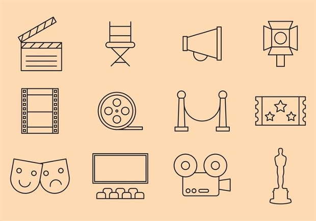 Outline Movie Icons