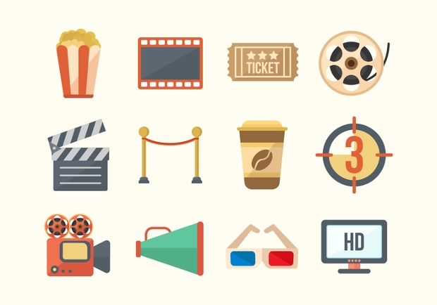 Free Cinema Movie Icons