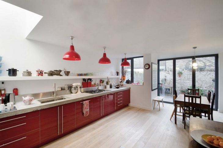 freespace red kitchen idea