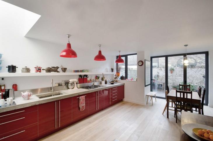 Freespace Red Kitchen Idea