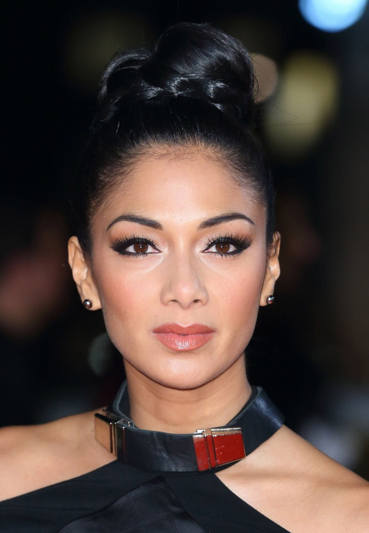 Nicole Scherzinger Wrapped Braid Top Knot